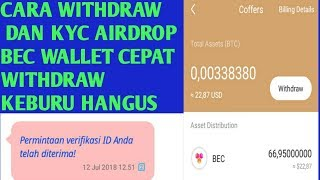 Cara Withdraw Airdrop  Bec Wallet +Cara KYC Bec wallet