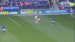 Superb Mahrez Goal vs Blackpool