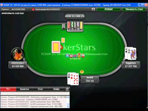 TCOOP 2012 - Event 21. FINAL TABLE