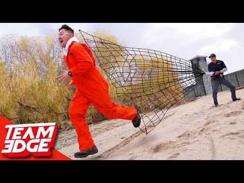 Capture the Prisoner on the Run!! | High Powered Net Gun!