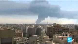ليبيا -غارات جوية تستهدف المطار المدني في راس لانوف
