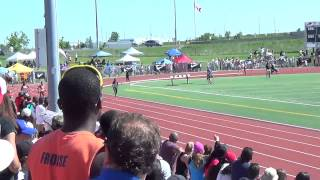2014 OFSAA TF - Junior Girls 200m Final featuring Colle Thompson