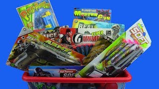 BOX OF TOYS !!! Guns Box Toys Police & Military equipment -Toy Gun Collection ! What's in the box?