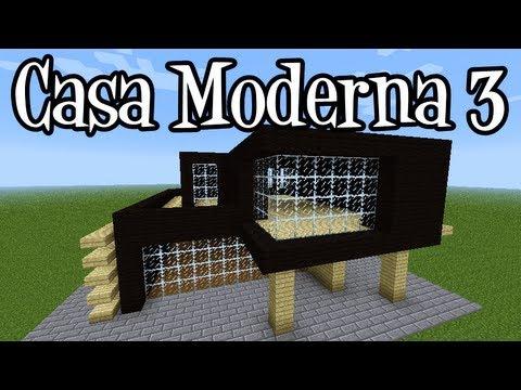 Tutoriais Minecraft Como Construir A Casa Moderna 3 Youtube