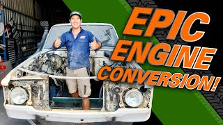 Shaun Whale's epic Dirty 30 ENGINE CONVERSION - Is this the best diesel ever built? Interesting tips