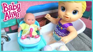 Baby Alive Doll Spa Day With Little Baby Born Sister