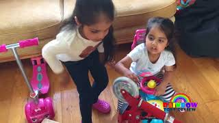 Baby Sisters Playtime At Home Surprise Scooter Kids Fun Racing Pretend Play from Rainbow ToysReview