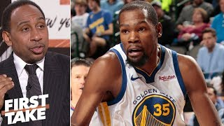 Stephen A. wants Kevin Durant to choose Knicks in free agency | First Take