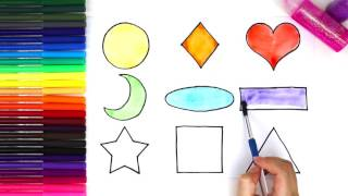 Learn Colors for Children with Shapes (Fun and Easy!) | Baby Learn Color for Kids Preschool Learning