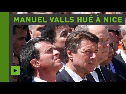 Des minutes de honte : Manuel Valls sifflé à Nice lors de la minute de silence