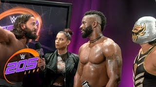 Tony Nese confronts Cedric Alexander after their tag team battle: 205 Live Exclusive, Aug. 22, 2017