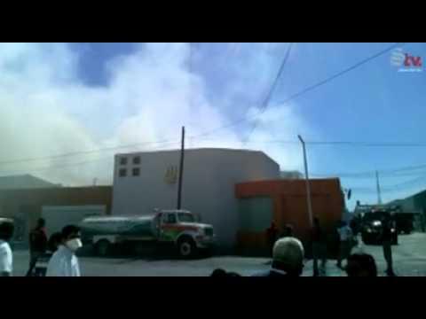 Se incendia empresa en Zona Industrial de Gómez Palacio
