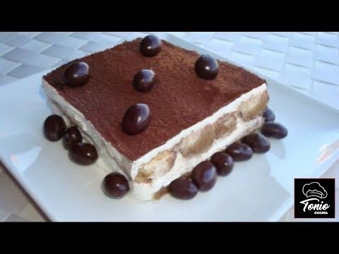 Tiramisu sin huevo, fácil y rápida, receta #139 - Cocina en video.com
