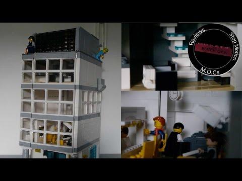 Custom Lego  Restaurant and Wayne Penthouse-moc showcase