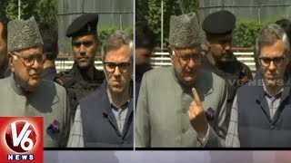 Farooq Abdullah And Omar Abdullah Cast Their Votes | 2nd Phase Elections