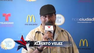 Alberto Velez es el primer finalista de #SoloTuVoz 2015!