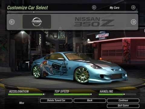 nfs underground 2 my custom cars   youtube
