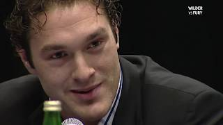 Born confident! Tyson Fury's first ever press conference as a professional boxer