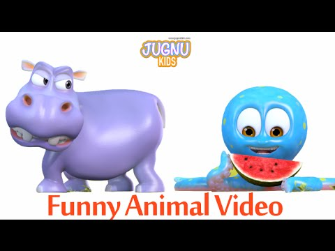 Funny Animal Video - Hippo & Octopus for Kids, Babies and Toddlers