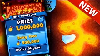 Bloons TD Battles WORLD EXCLUSIVE! NEW BOSS MAP BLASTAPOPOULOS INFERNO - 1,000,000 MEDALLION ARENA!