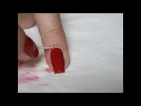 Как убрать излишки лака\How to remove excess polish