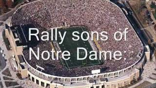 Notre Dame Victory March with lyrics