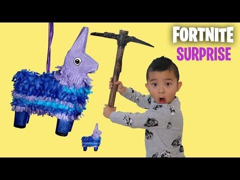 FORTNITE PINATA SURPRISE In Real Life Smashing Fun With CKN Toys