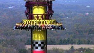 Drop Tower: Scream Zone off-ride HD Kings Island