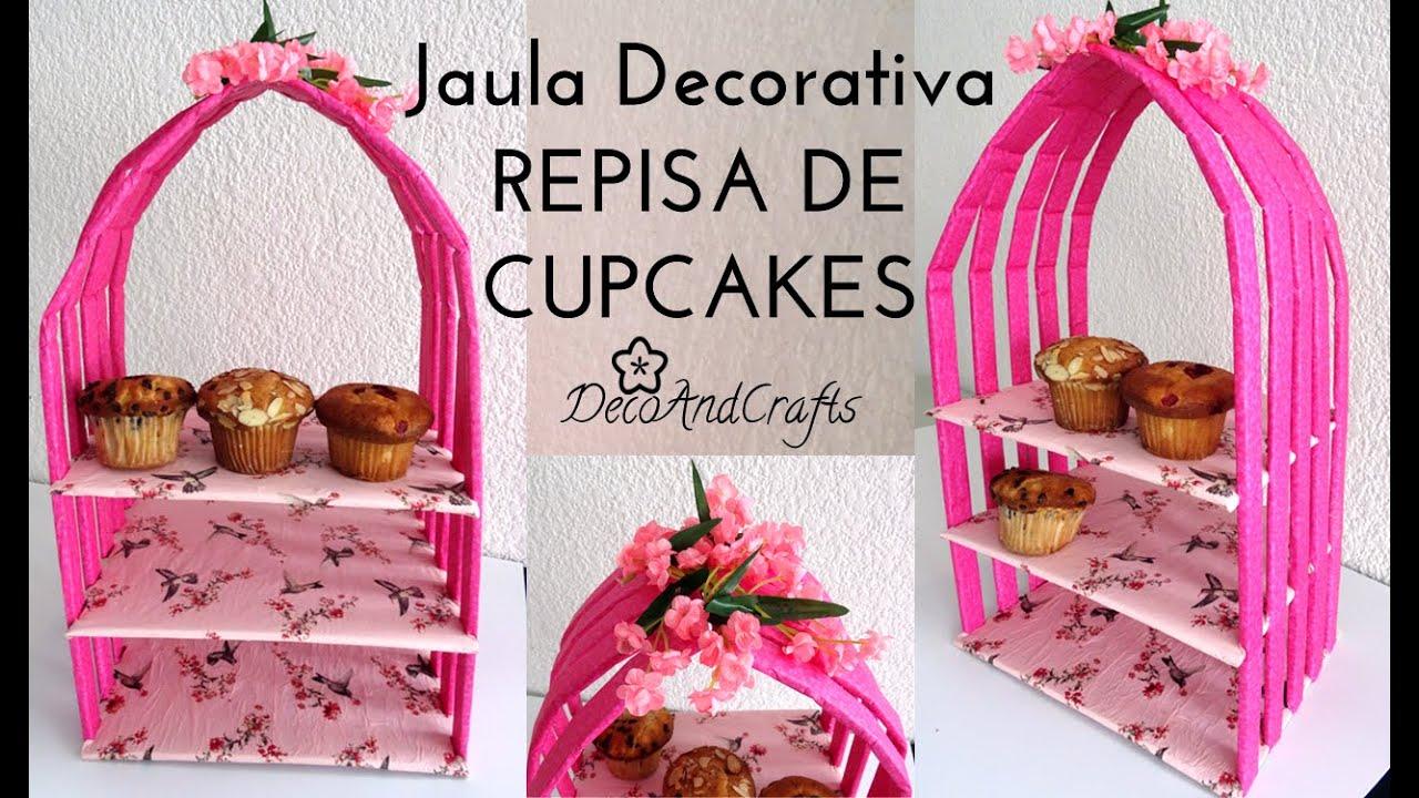 Mesa de dulces jaula decorativa exhibidor cart n de for Jaula de la escalera de color idea