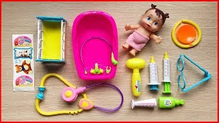 Đồ chơi bác sĩ khám bệnh em bé 20 món: tai nghe, dụng cụ khám bệnh - Đồ chơi Chim Xinh - Doctor toys