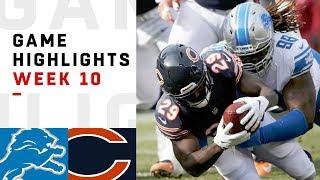 Lions vs. Bears Week 10 Highlights | NFL 2018
