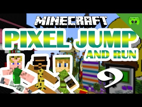 MINECRAFT Adventure Map # 9 - Pixel Jump & Run «» Let's Play Minecraft Together   HD