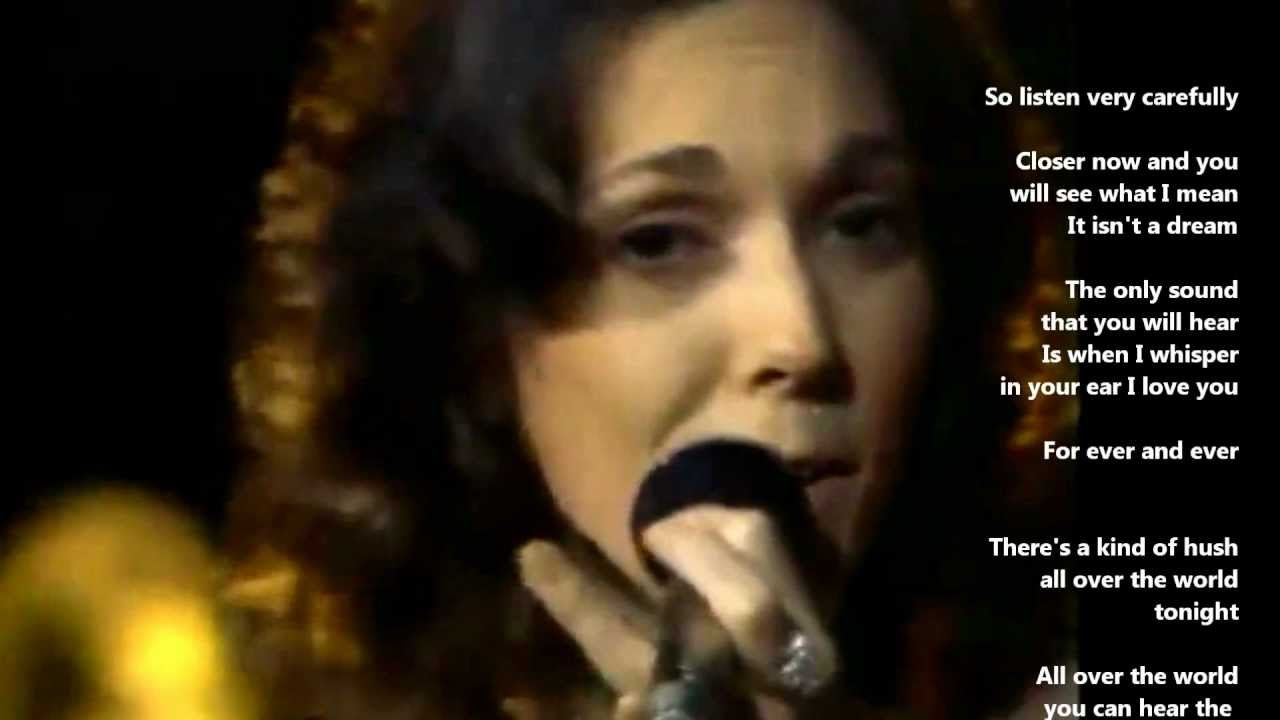 THERE'S A KIND OF HUSH - Carpenters with Lyrics - YouTube