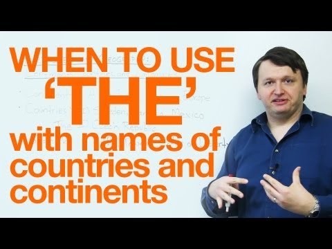When to use 'THE' with country names