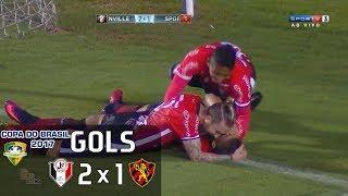 Gols - Joinville 2 x 1 Sport - Copa do Brasil 2017