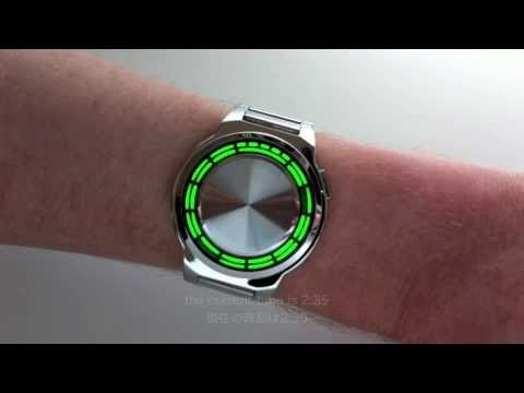 Kisai RPM SS Stainless Steel Green LED Watch Design From Tokyoflash Japan