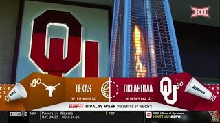 Texas vs Oklahoma Men's Basketball Highlights