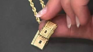 14K Gold Movable Bible Pendant on QVC