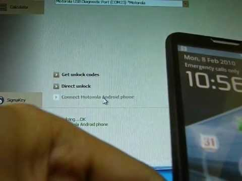 Unlock Motorola XT615 easy and fast with SigmaKey