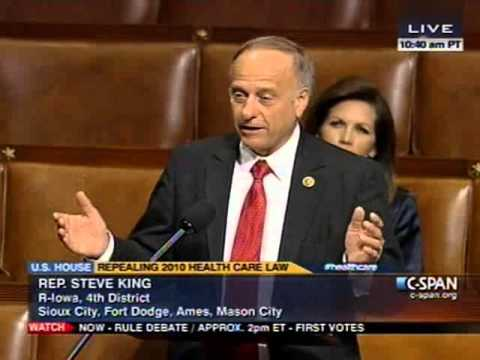 Congressman Steve King Spoke on the House Floor -- Repeal ObamaCare