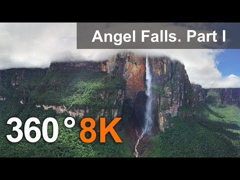 360°, Angel Falls, Venezuela. Part I. Aerial 8K video