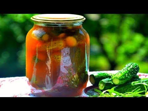 Огурцы в кетчупе Чили. Заготовка на зиму, Быстрые и простые рецепты для дома.