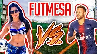 MENINO NEYMAR vs RAQUEL FREESTYLE no FUTMESA!!