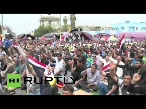Iraq: Drone footage captures large anti-govt protest in Baghdad