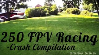 Velocity F-ONE-S 250 FPV Racer Crash Compilation - RCLifeOn