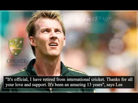 Brett Lee retires from international cricket