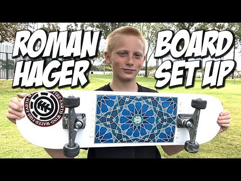 ROMAN HAGER BOARD SET UP AND SKATE SESH !!! - NKA VIDS -