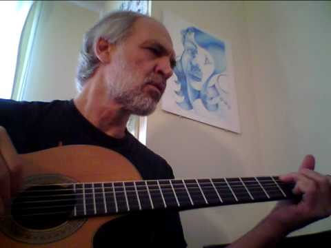 Dennis Sobin plays BLUE MOON on guitar at Prison Art Gallery, Washington, DC
