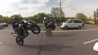 SuperMoto Boys Ride in Moscow!