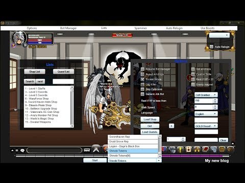 AQWorlds - New Le Bot 8.0 [Tutorial + Download] - Shinobi Tokens 2013